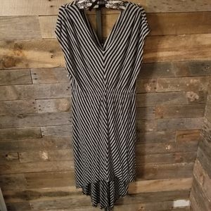 Mossimo XL Striped High Low Dress